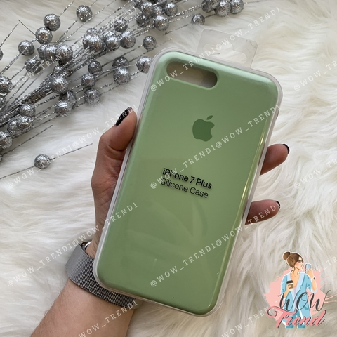 Чехол iPhone 7+/8+ Silicone Case /mint gum/ фисташка 1:1