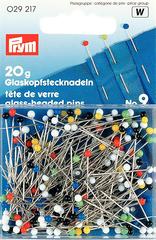 Булавки Prym, портновские с цветными стеклянными головками 30х0,6мм (арт 0291217)