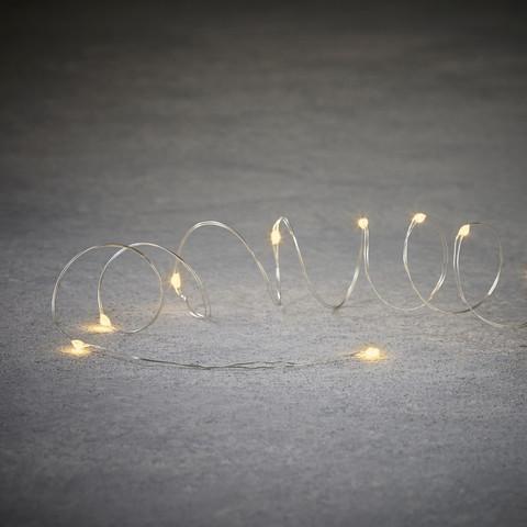 теплый белый свет серебряный провод 10 ламп 90см