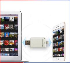 Флешка для Iphone/Ipad на 32 Gb со сменной микро SD