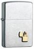 Зажигалка Zippo, латунь/сталь с покрытием Brushed Chrome, серебристая, матовая, 36x12x56 мм