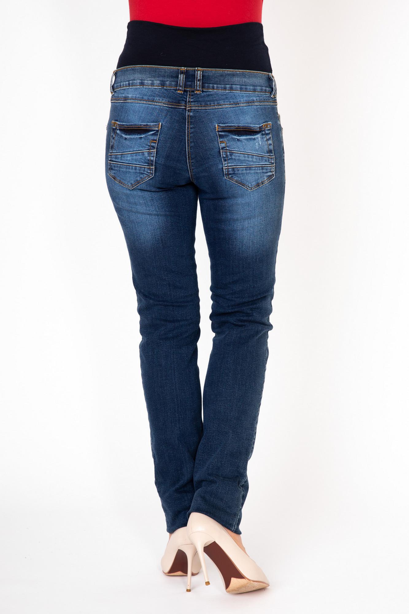 Фото зауженные джинсы для беременных MAMA`S FANTASY, легкий эластичный деним от магазина СкороМама, синий, размеры.