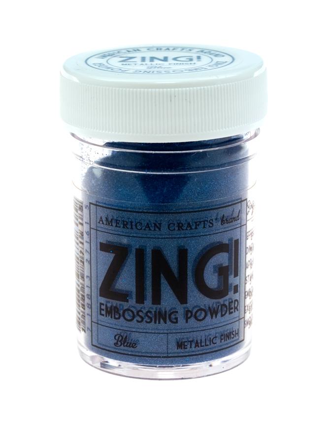 Пудра для эмбоссинга ZING! Metallic Blue