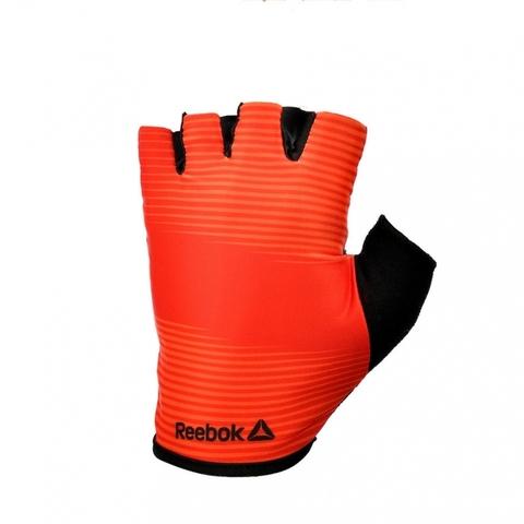 RAGB-11235RD Тренировочные перчатки Reebok (без пальцев) красные р.M