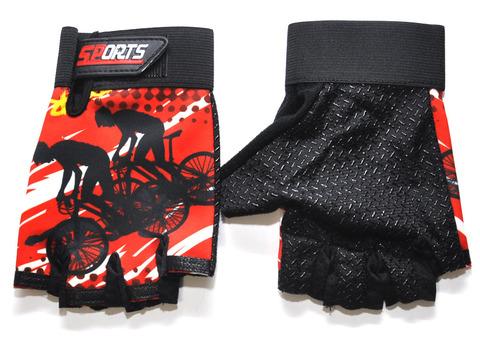 Перчатки для велосипедистов. Материал: трикотажная ткань. JZ-3537