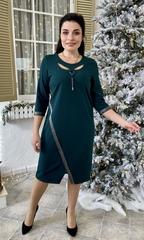 Оливия. Оригинальное нарядное женское платье. Изумруд