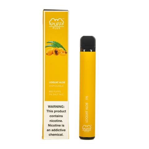 Одноразовая электронная сигарета Puff PLUS Loquat Aloe (МУШМУЛА-АЛОЭ)