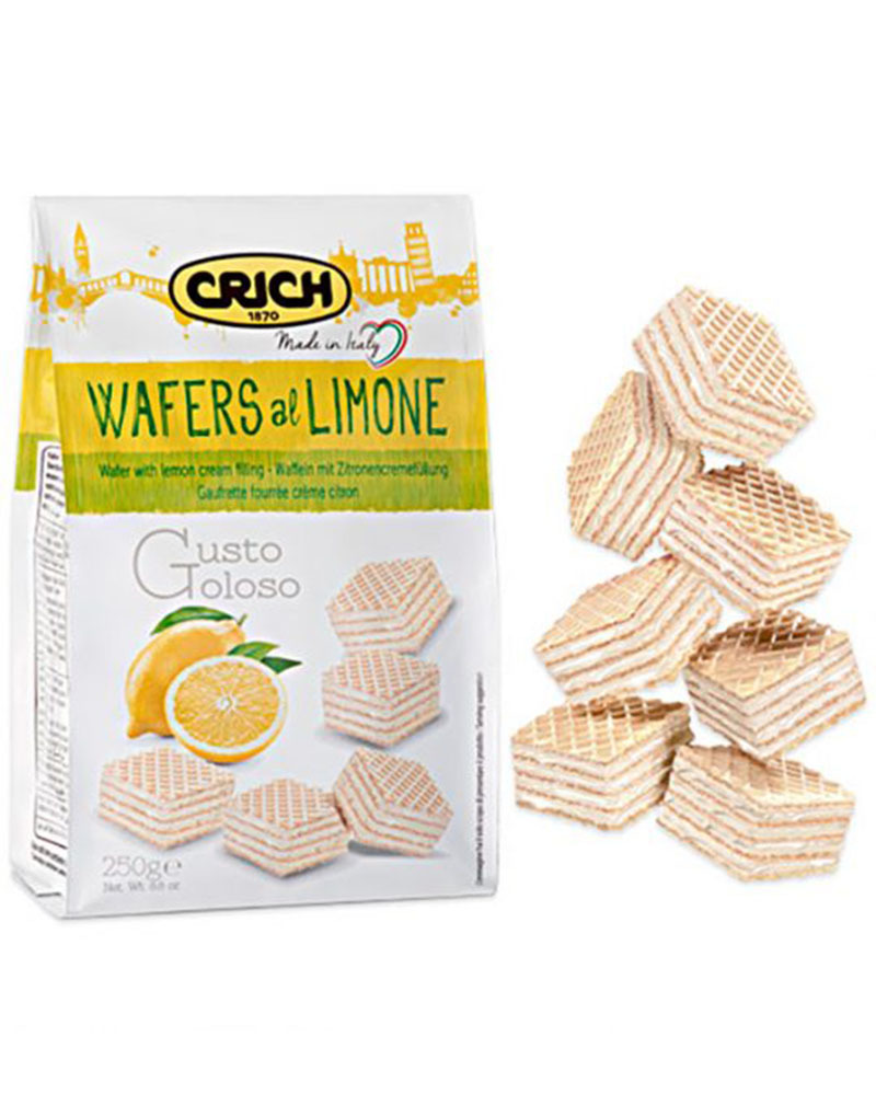 Вафли Crich с лимонно-кремовой начинкой, 250 гр.
