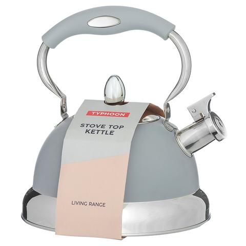 Чайник со свистком Living серый