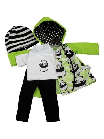 Костюм с футболкой и курткой - Зеленый. Одежда для кукол, пупсов и мягких игрушек.