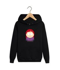 Толстовка черная с капюшоном (худи, кенгуру) и принтом Южный парк (South Park) 001
