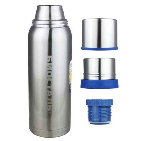 Термос Biostal Охота (0,75 литра), 2 чашки, стальной