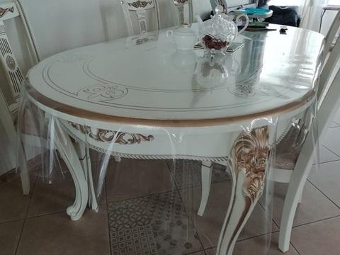 Силиконовая скатерть на овальный стол 140 х 230 см