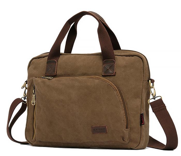BAG400-2 Удобный мужской портфель из ткани с ремнем на плечо фото 05