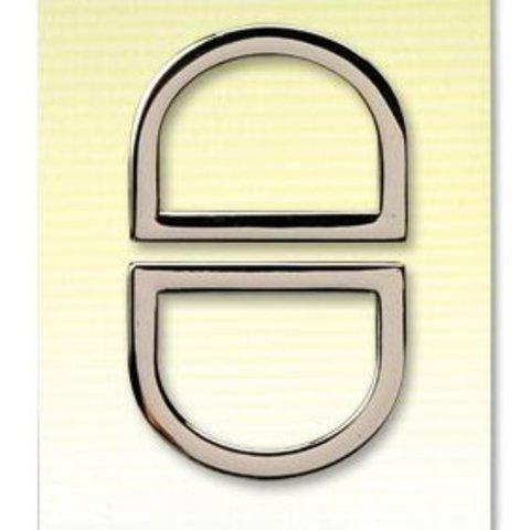 Кольца для сумки D-образные Clover 25 мм.