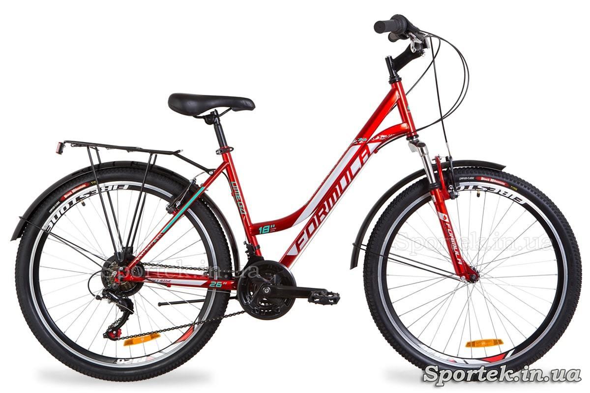 Міський жіночий велосипед Formula Omega - червоно-білий
