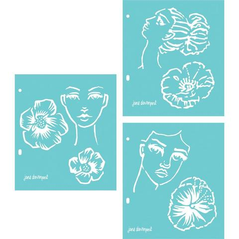 Набор масок (трафареты ) Jane Davenport Artomology Stencils- 18х20 см.