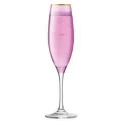 Набор из 2 бокалов-флейт для шампанского Sorbet, 225 мл, розовый, фото 4