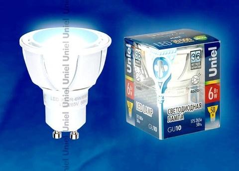 Uniel Лампа LED-JCDR-6W/NW/GU10/FR Palazzo (белый свет)