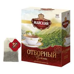 Чай Майский Цейлон Отборный черный 100 пакетиков