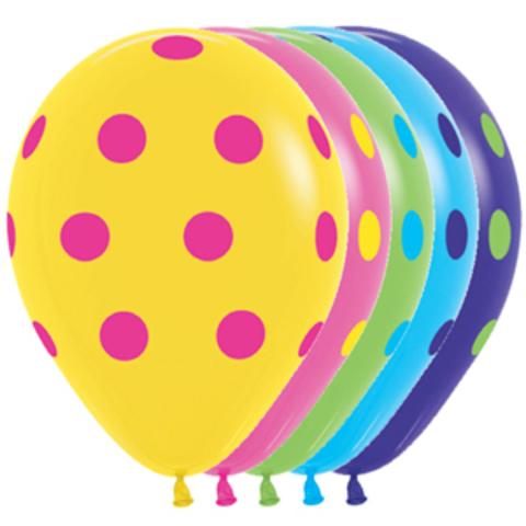 S 12 Цветные точки, Ассорти, пастель, 5 ст.