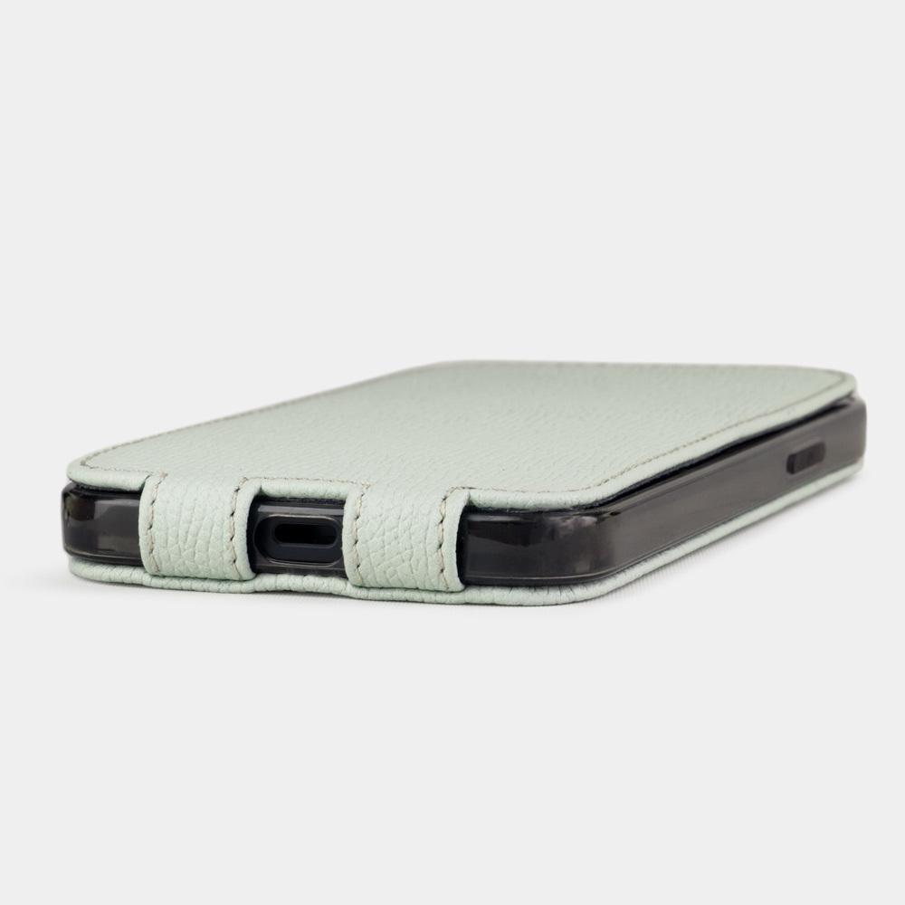 Special order: Чехол для iPhone 12 Pro Max из натуральной кожи теленка, фисташкового цвета