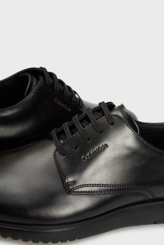 Мужские черные кожаные дерби Calvin Klein