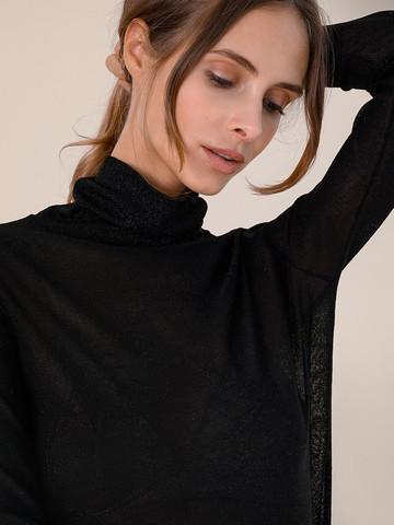 Женская водолазка черного цвета из вискозы - фото 3