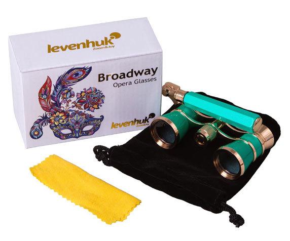 Театральный бинокль-лорнет Levenhuk Broadway 325L Lime - фото 2 - комплект поставки