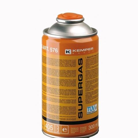 Баллон с газом  KEMPER  576 SUPERGAS(резьб. бал, 300мл/175гр,Бутан70/Пропан30%, темп 1900/2850С)
