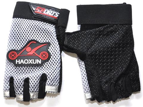 Перчатки для велосипедистов. Материал: трикотажная ткань, махра, сетка.  JZ-3651