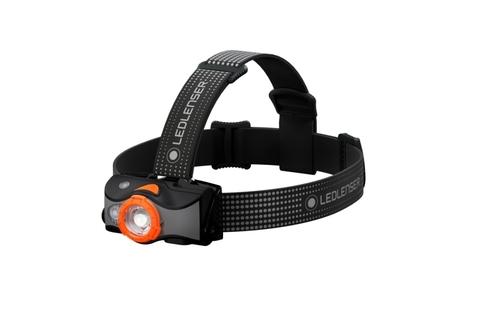 Фонарь светодиодный налобный LED Lenser MH7 , черно-оранжевый, 600 лм