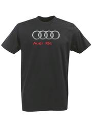Футболка с принтом Ауди RS5 (Audi RS5) черная 0010