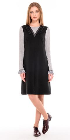 Фото классическое платье для офиса с v-образным вырезом на молнии - Платье З225-678 (1)