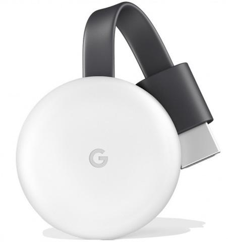 Медиаплеер Google Chromecast 2018 (Белый)