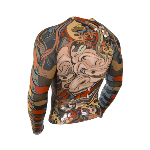 купить рашгард мужской yakuza oni с длинным рукавом для фитнеса единоборств занятий спортом