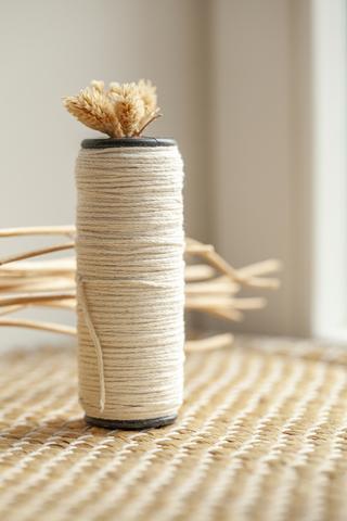 Хлопковый плетеный шнур экрю 2 мм