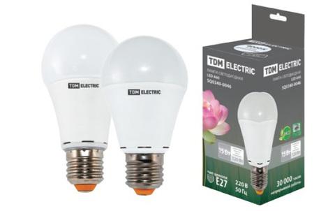 Лампа светодиодная А60 - 15 Вт-220 В -3000 К–E27 TDM
