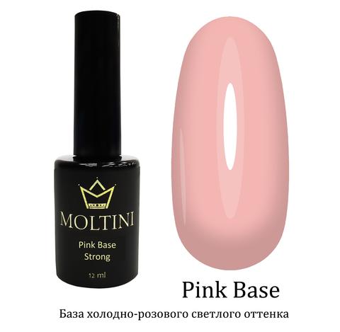 Каучуковая камуфлирующая база Moltini Pink Base, 12 ml