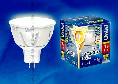 Uniel Лампа LED-JCDR-7W/WW/GU5,3/FR Palazzo (теплый свет)
