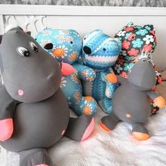 Мягкая игрушка-подушка Gekoko «Бегемот Няша», коралловый 8