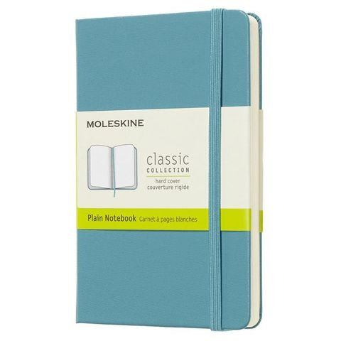 Блокнот Moleskine CLASSIC QP012B35 Pocket 90x140мм 192стр. нелинованный твердая обложка голубой