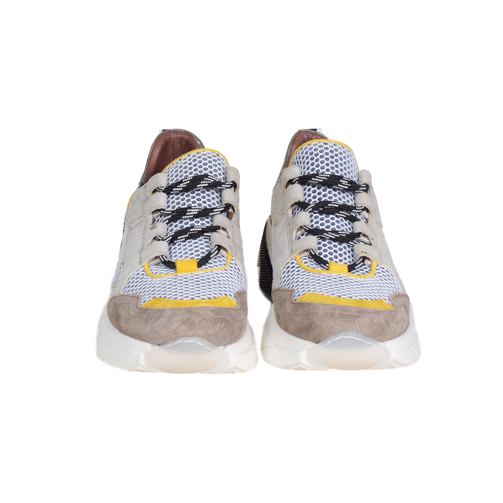 Кроссовки женские, MJUS, 766103 (серый с желтым)