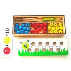 Деревянная игра Собери гусеницу Крона 170-015