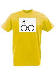 Футболка с принтом Гарри Поттер (Harry Potter/ Гриффиндор, Слизерин, Когтевран, Пуффендуй) желтая 0041
