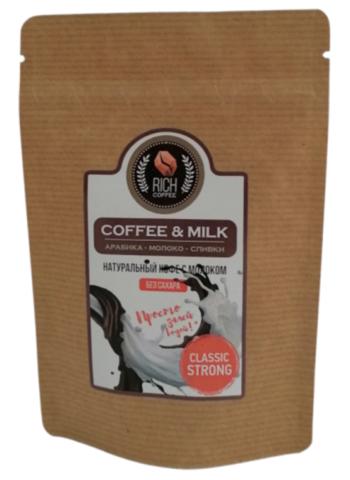 Натуральный молотый кофе Rich Coffee & Milk coffee / СТРОНГ