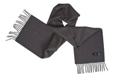 Шерстяной шарф черный 00305