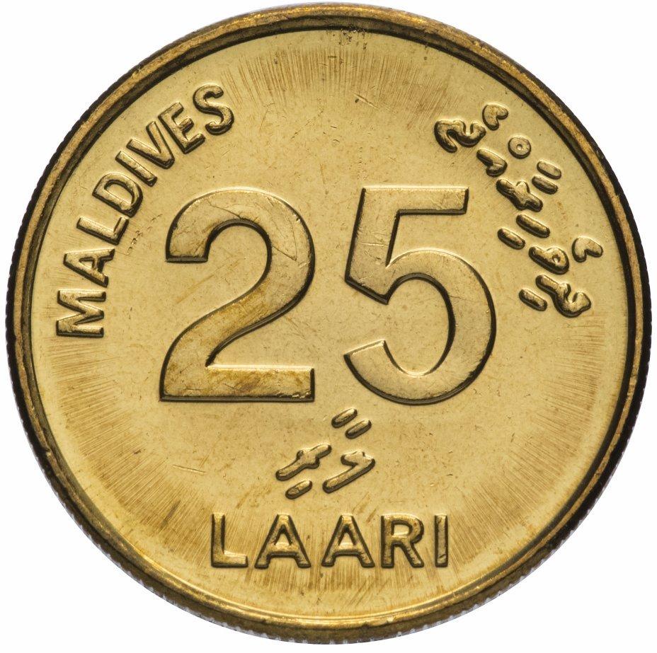 25 лари. Мальдивы. 2008 год. UNC