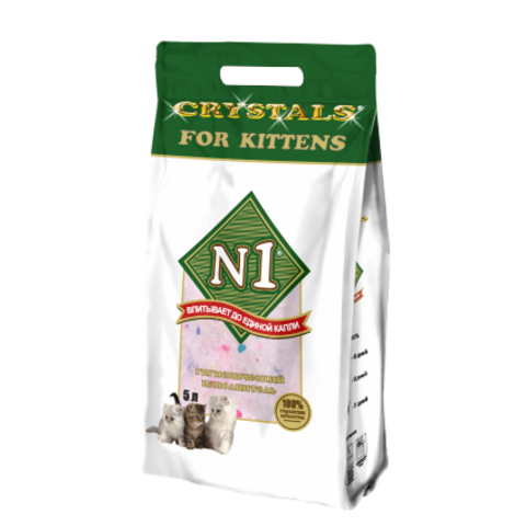 Барсик наполнитель 5 л №1 Crystals For Kitten Силикагелевый