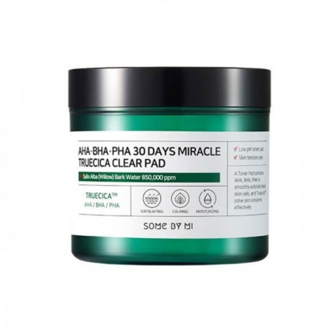 Пэды для лица Some By Mi AHA-BHA-PHA 30 days Miracle Trucecia Clear Pad 70шт